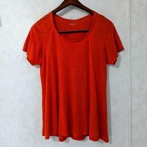 Eileen Fisher 100% Linen Orange Top